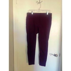 LOFT - Burgundy Ponte Pants